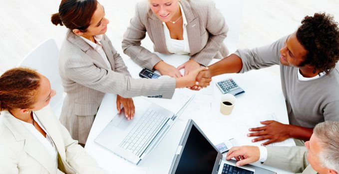 photodune-183619-colleagues-having-a-business-meeting-against-white-background-m